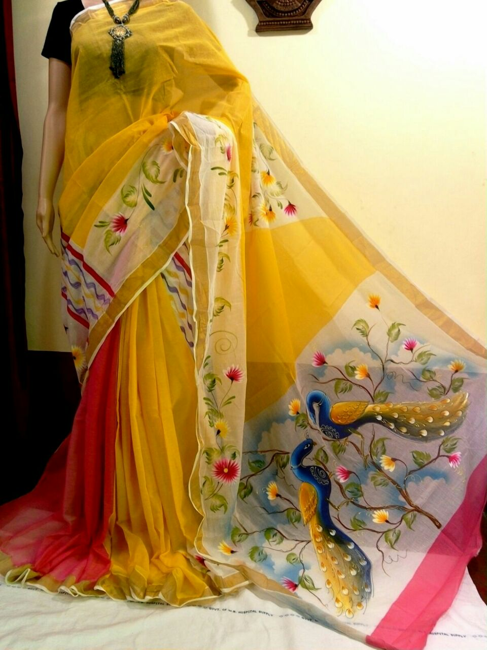 Hand Painted Cotton Sarees