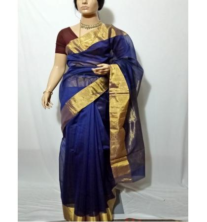 8a4775a36 HTML template HTML template. PJ-Royal Blue Handloom Chanderi Silk  Saree D16A276