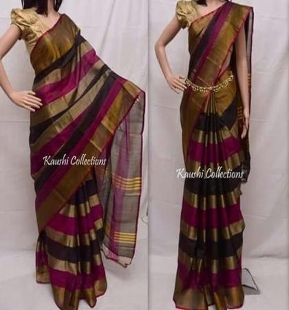Blue Handloom Kanchipuram Soft Silk Saree-MR17A127
