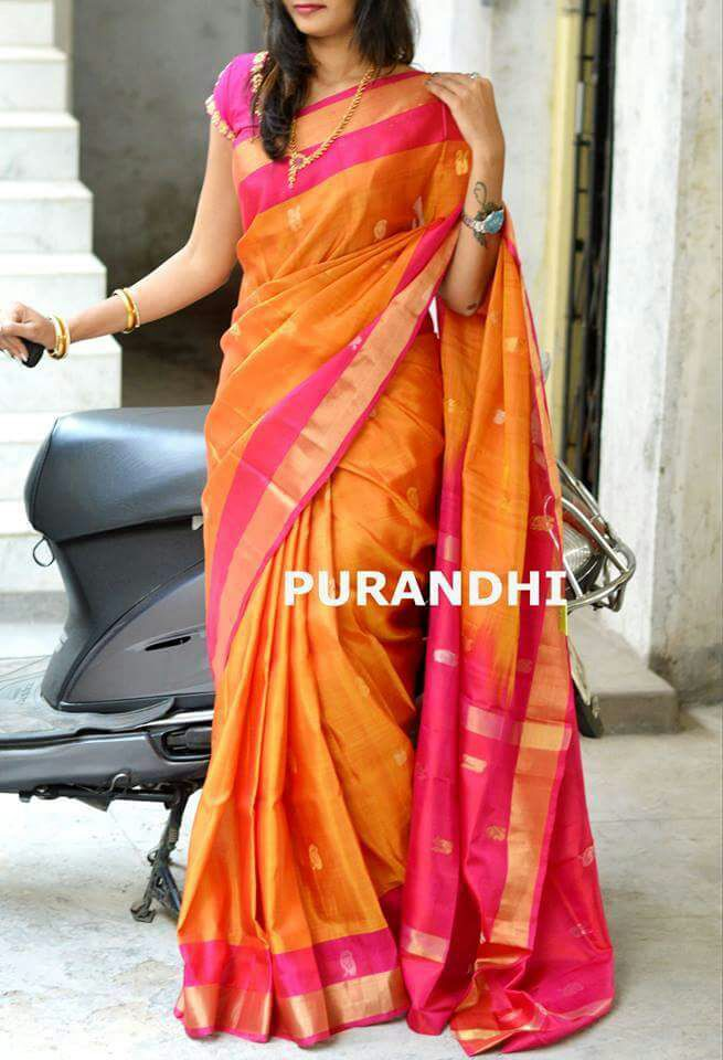 Sri Puja Uppada Saree | Celebrities Sarees | Bridal silk ...